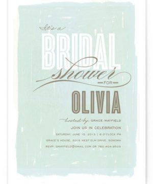 Aqueous Bridal Shower Invitations