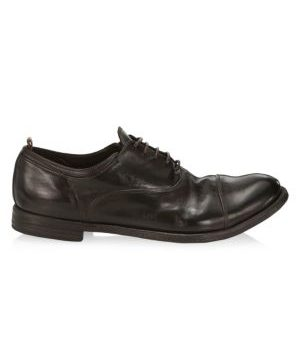 Arc Cap-Toe Leather Dress Shoes