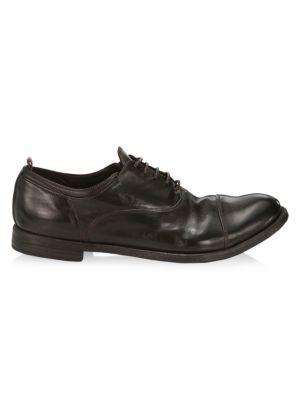 Arc Cap-Toe Leather Dress Shoes