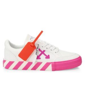 Arrow Low-Top Neon Canvas Sneakers