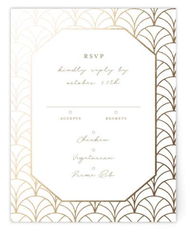 Art Deco Foil-Pressed RSVP CardsP Cards