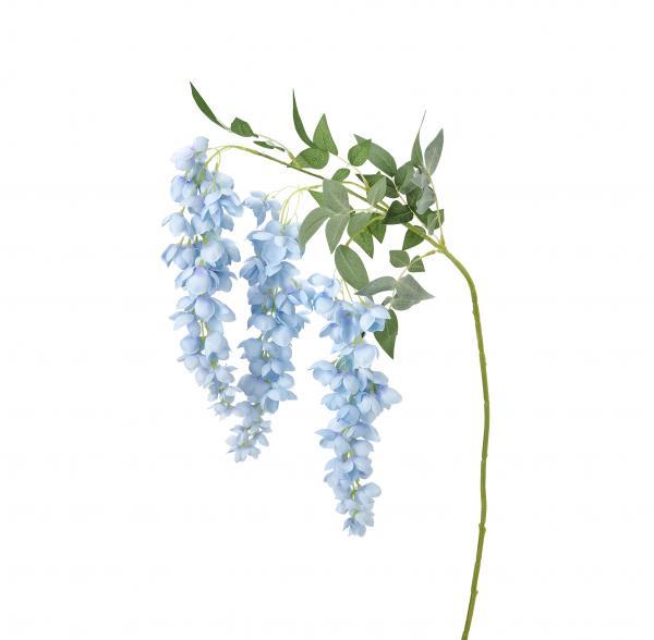 """Artificial Abutilon Pictum Flower 43"""" - 24 Pieces - Blue"""