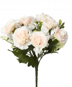 Artificial Carnation Flower Bunch - 48 Pieces - Blush