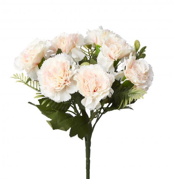 Artificial Carnation Flower Bunch - 48 Pieces - Blush