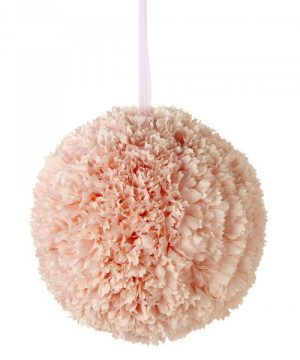 "Artificial Dahlia Flower Ball 14"" - Blush - 6 Pieces"