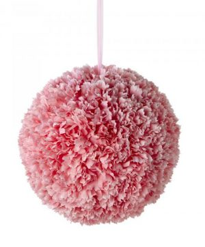 "Artificial Dahlia Flower Ball 14"" - Pink - 6 Pieces"