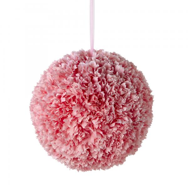 "Artificial Dahlia Flower Ball 14"" - Pink - 6 Pieces"