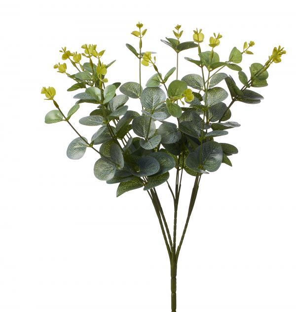 Artificial Eucalyptus Foliage Bush - 48 Pieces - Light Green