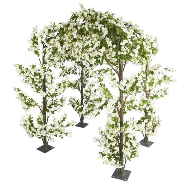 Artificial Flower Gazebo 11 ft - White