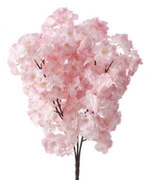 Artificial Flower w/ Greenery Stem - 24 Pieces - Blush