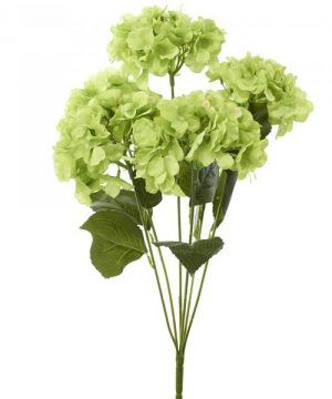 "Artificial Hydrangea Bouquet 22½"" - 24 Pieces - Apple Green"
