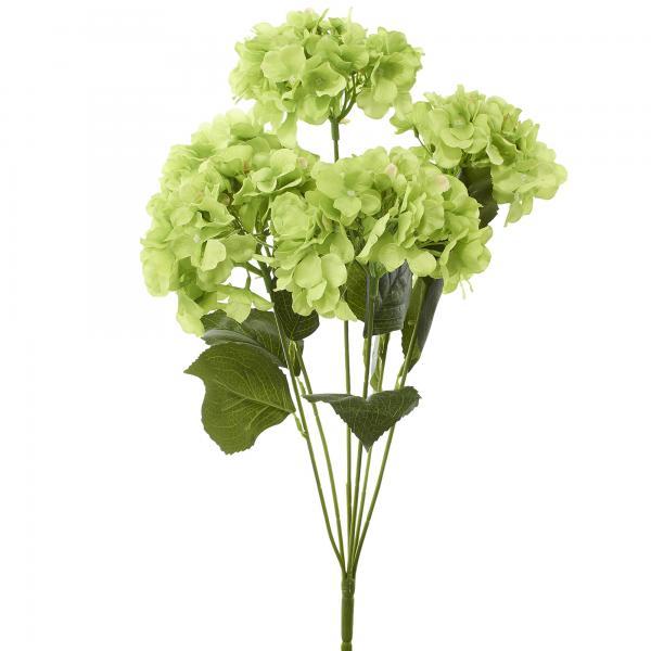"Artificial Hydrangea Bouquet 22½"" - 24 Pieces - Apple Green"