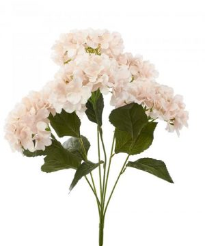 "Artificial Hydrangea Bouquet 22½"" - 24 Pieces - Blush"