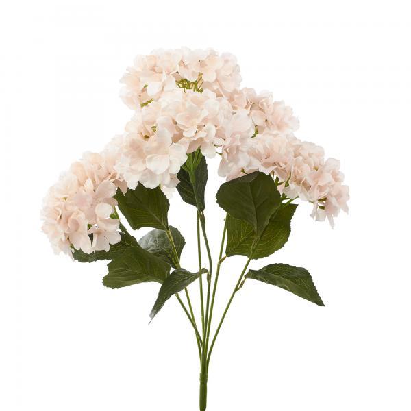 """Artificial Hydrangea Bouquet 22½"""" - 24 Pieces - Blush"""