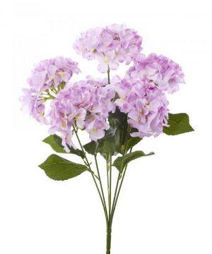 "Artificial Hydrangea Bouquet 22½"" - 24 Pieces - Lavender"