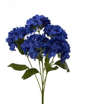"""Artificial Hydrangea Bouquet 22½"""" - 24 Pieces - Royal Blue"""