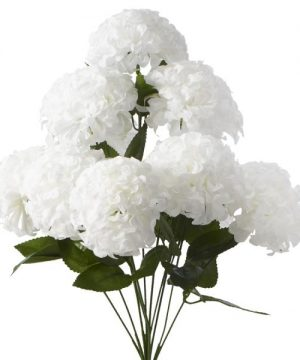 "Artificial Hydrangea Flower Bunch - 20"" - 24 Bunches - White"