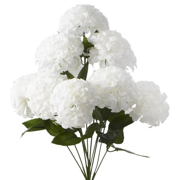 "Artificial Hydrangea Flower Bunch - 20"" - 24 Bunches - White"