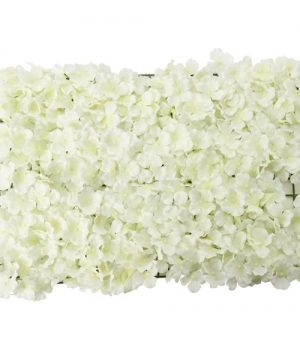 "Artificial Hydrangea Flower Mat - 16"" x 24"" - 12 Pieces - Ivory"