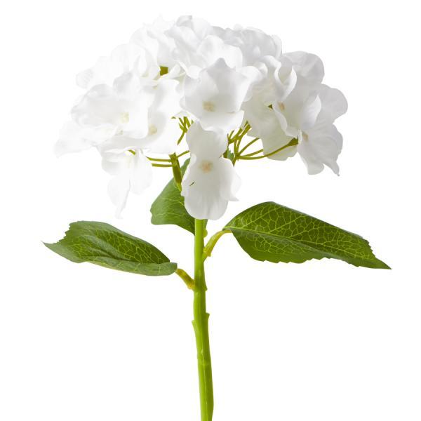 "Artificial Hydrangea Stem - 14"" - 72 Stems - White"