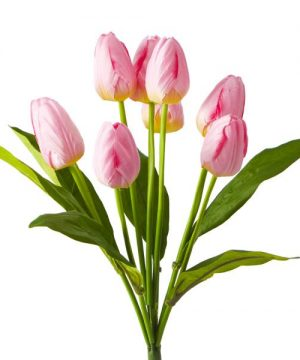 Artificial Large Bunch Tulip Flowers - 36 Pieces - Pink