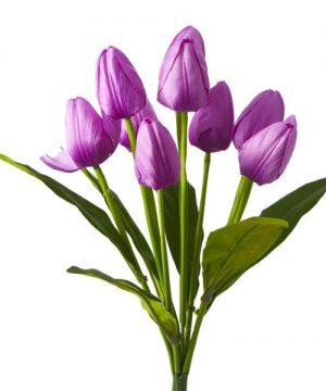 Artificial Large Bunch Tulip Flowers - 36 Pieces - Purple