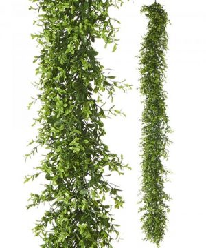 "Artificial Mixed Greenery Garland - Style A - 62"" Long - 24 Pieces"