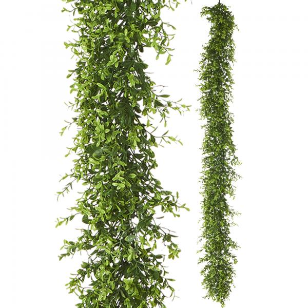 """Artificial Mixed Greenery Garland - Style A - 62"""" Long - 24 Pieces"""