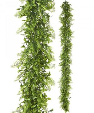 "Artificial Mixed Greenery Garland - Style B - 62"" Long - 24 Pieces"