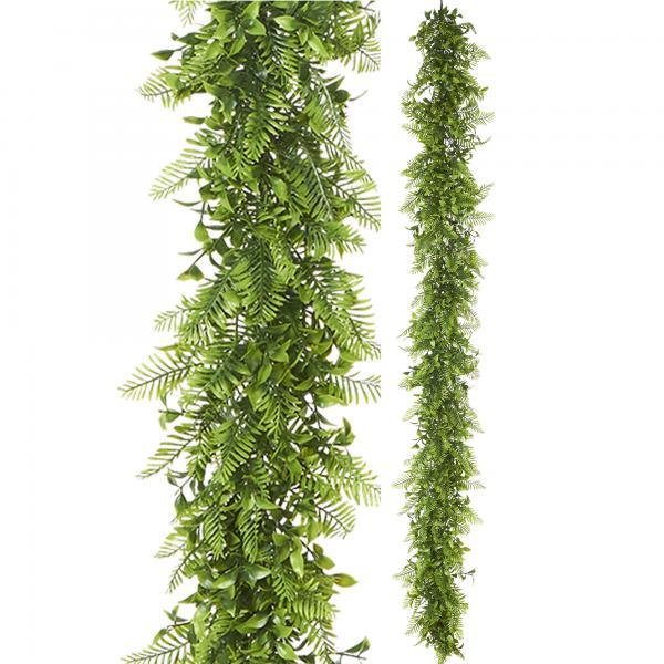 """Artificial Mixed Greenery Garland - Style B - 62"""" Long - 24 Pieces"""