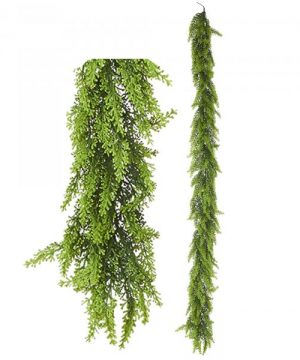 "Artificial Mixed Greenery Garland - Style D- 62"" Long - 24 Pieces"