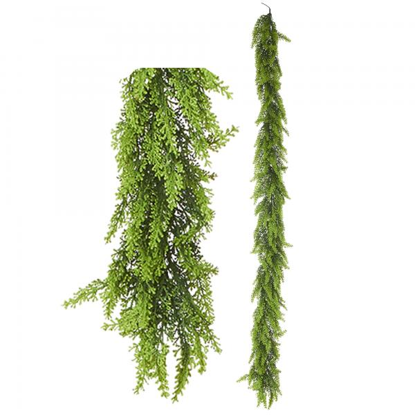 """Artificial Mixed Greenery Garland - Style D- 62"""" Long - 24 Pieces"""