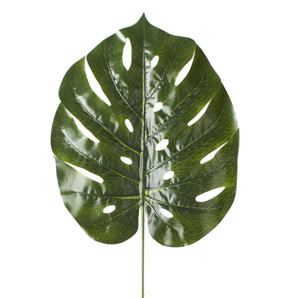 """Artificial Monstera Leaves - 12"""" x 27"""" - 48 Leaves - Green"""