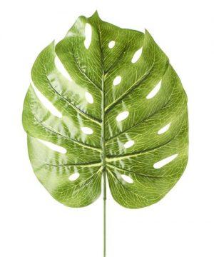 "Artificial Monstera Leaves - 12"" x 27"" - 48 Leaves -Light Green"