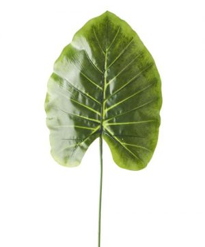 "Artificial Monstera Type Leaves - 9"" x 24"" - 48 Leaves - Green"