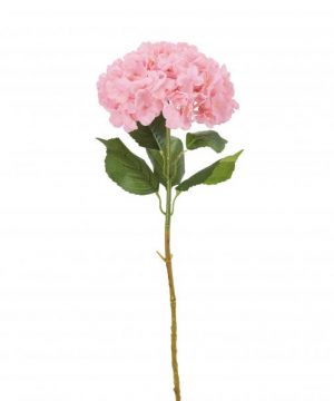 "Artificial Single Stem Hydrangea Flower 39"" - Pink - 12 Pieces"