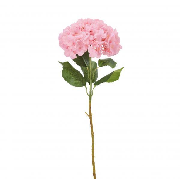 "Artificial Single Stem Hydrangea Flower 39"" - Pink - 12 Pieces"