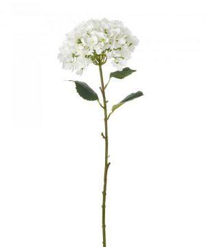 "Artificial Single Stem Hydrangea Flower 39"" - White - 12 Pieces"