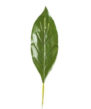 """Artificial Tropical Leaves - 6"""" x 25"""" - 48 Leaves - Green"""