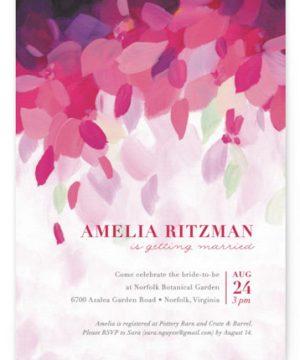 Azalea Bridal Shower Invitations