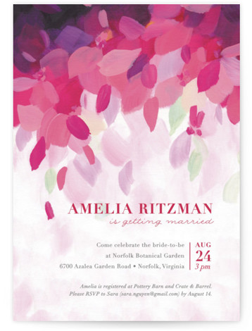 Azalea Bridal Shower Invitations