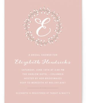 Baby's Breath Bridal Shower Invitations
