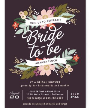 Banner Names Bridal Shower Invitations