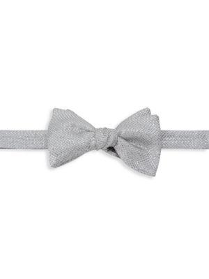 Basketweave Silk-Blend Bow Tie