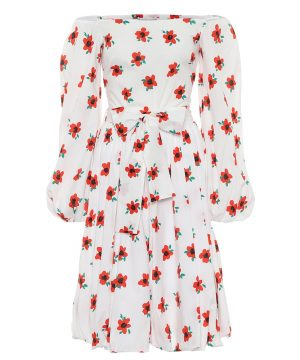 Bea floral cotton midi dress