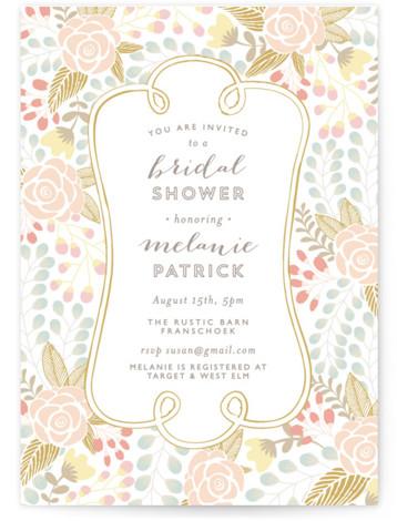 Beautiful Bouquet Bridal Shower Invitations