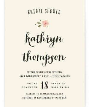 Beginning Bridal Shower Invitations
