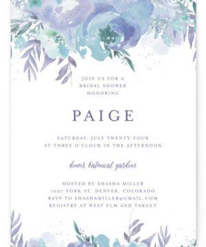 Big Blooms Bridal Shower Invitations