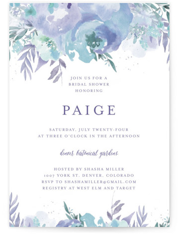 Big Blooms Bridal Shower Invitations