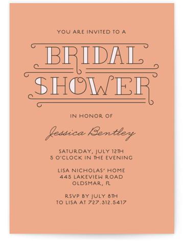 Bliss Bridal Shower Invitations